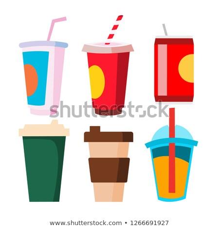 пить набор вектора Кубок кружка кофе Сток-фото © pikepicture