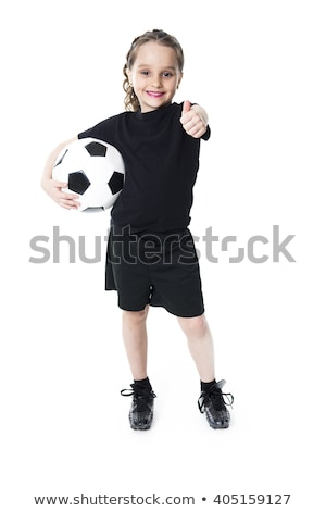 jonge · voetballer · voetbal · buiten · voorjaar · man - stockfoto © Lopolo