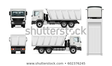 Trekker vrachtwagen laden voertuig man vrouw Stockfoto © robuart