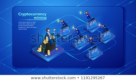 Hidden mining concept landing page. Stock photo © RAStudio