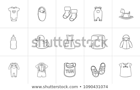 Baby overall shirt and pants hand drawn outline doodle icon. Stock photo © RAStudio