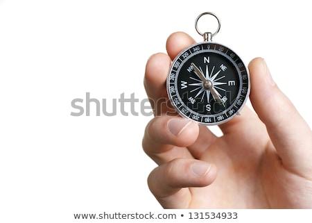 Bussola bianco gestione magnetico ago punta Foto d'archivio © make