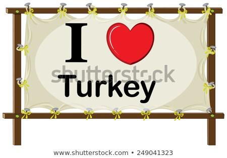 Turkije · geïsoleerd · hart · vlag · witte - stockfoto © colematt