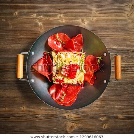 クスクス サラダ 自家製 牛肉 ハム ザクロ ストックフォト © grafvision