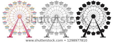 ストックフォト: セット · 白 · 背景 · 芸術 · 楽しい