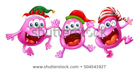 Noel üç parti mutlu arka plan sanat Stok fotoğraf © colematt