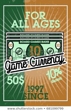 Color vintage bord games banner Stock photo © netkov1