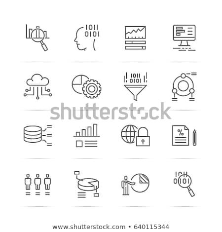 分析 成長 レポート セキュリティ データ ストックフォト © cifotart