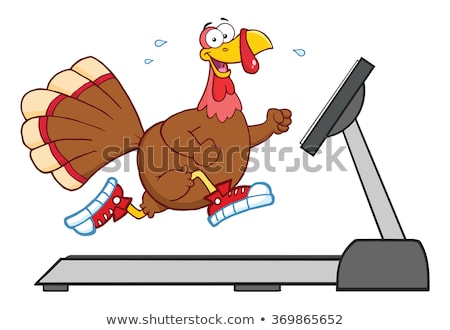 улыбаясь Турция работает бегущая дорожка изолированный Сток-фото © hittoon