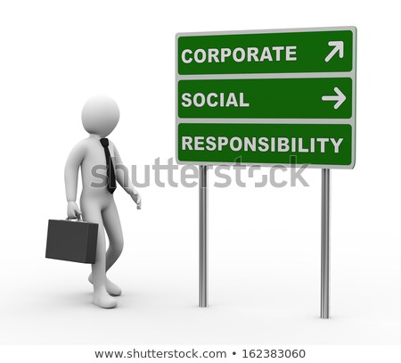 3d businessman csr roadsign Stock photo © ribah