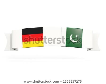 Afiş iki kare bayraklar Almanya Pakistan Stok fotoğraf © MikhailMishchenko