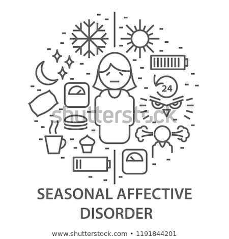 Seasonal affective disorder concept vector illustration. Stock photo © RAStudio