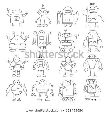人工知能 · 手描き · いたずら書き · 印刷 - ストックフォト © RAStudio