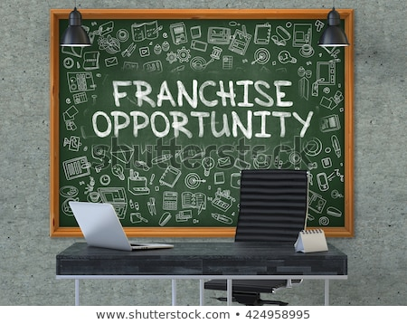 franchise opportunity drawn on brick wall 3d stock photo © tashatuvango