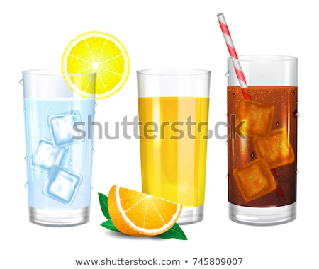 Ice Cube Isolated Transpatrent Vector. Cool Glass Drink. Iced Liquid. Realistic Illustration Stock photo © pikepicture
