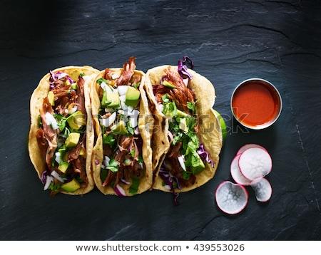 ejotes · tomate · salsa · alimentos · cocina · bar - foto stock © tycoon