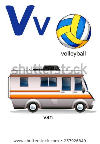 Carta voleibol branco criança projeto fundo Foto stock © colematt