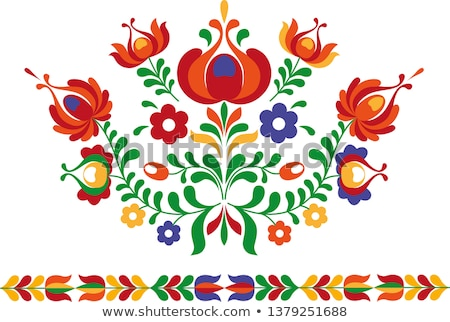 Folk ornament from Eastern Slovakia stock photo © MyosotisRock