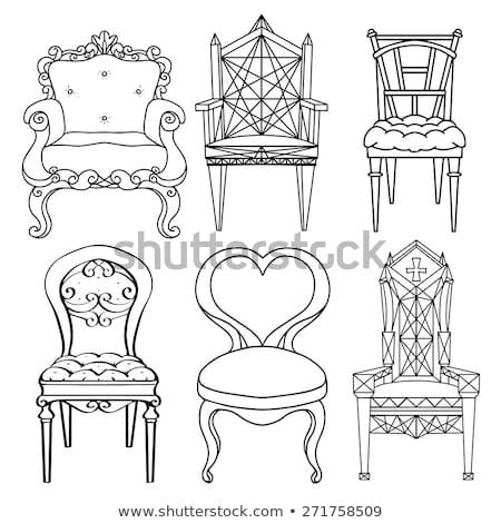 Vector real silla princesa trono moda Foto stock © VetraKori