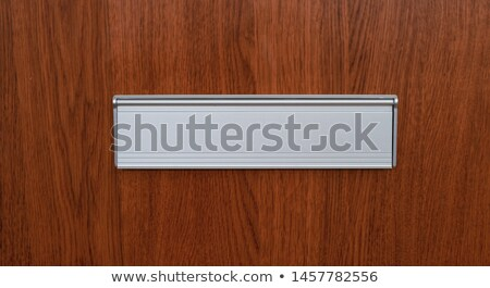 A letter with copy space in a mail slot Stock photo © Zerbor