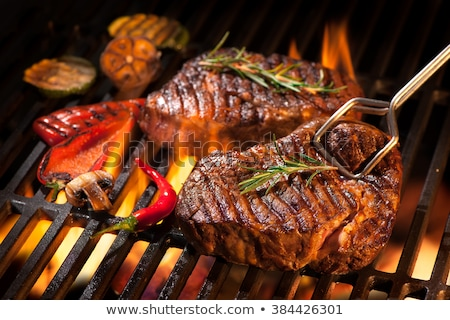 Grelhado bife preto pedra conselho comida Foto stock © Alex9500