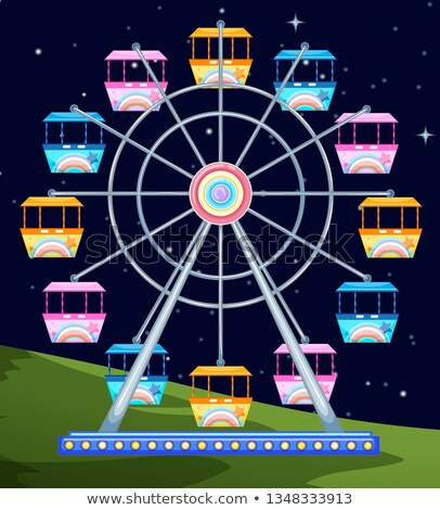 ferriswheel spinning a night Stock photo © bluering