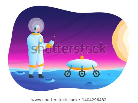Astronaut manages rover Stock photo © Genestro