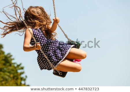 children at playground set stock photo © bluering