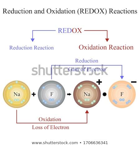 Atom diagram illusztráció terv technológia háttér Stock fotó © bluering