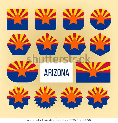 Arizona Flagge Sammlung Figur Vektor Stock foto © pikepicture