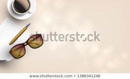 Yazar büro gerçekçi vektör göz gözlük Stok fotoğraf © pikepicture