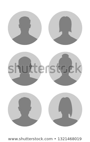 Anonymous Silhouette And Unknown Person Set Vector Stock photo © pikepicture