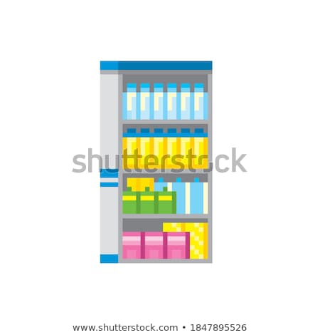Refrigerator Soda and Fizzy Drinks Vector Isolated Stock photo © robuart
