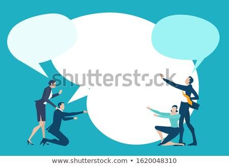 Yatırımlar iş konuşma balonu karikatür örnek Stok fotoğraf © tashatuvango