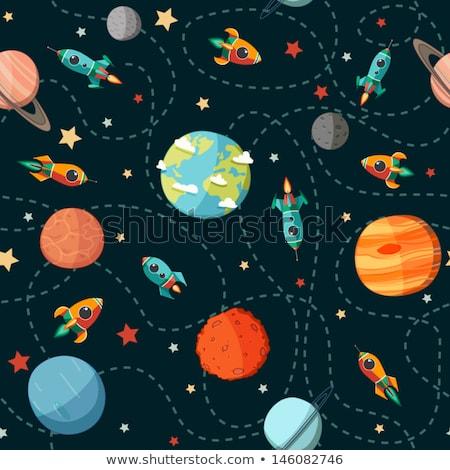 Ufo conjunto padrão eps 10 céu Foto stock © netkov1
