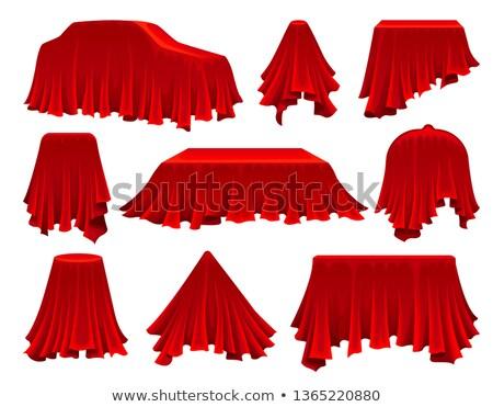 kırmızı · masa · örtüsü · örnek · beyaz · dizayn · ışık - stok fotoğraf © pikepicture