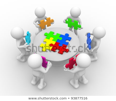 Puzzle Piece Jigsaw Characters Business Concept Stock photo © Krisdog
