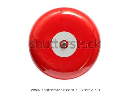 piros · tűzjelző · izolált · fehér · 3d · render · biztonság - stock fotó © winner