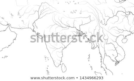 vadvilág · nyáj · fürdik · elefántok · folyó · dzsungel - stock fotó © glasaigh