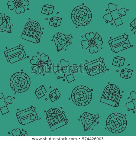 Casino icone pattern design eps 10 Foto d'archivio © netkov1
