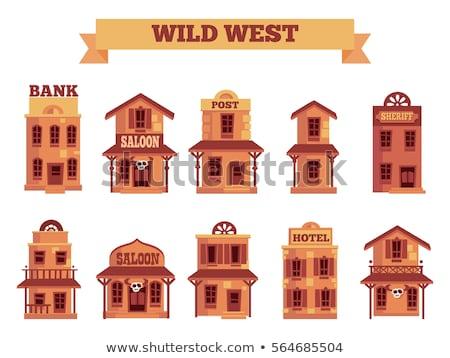 Wild west cowboy objecten gitaar Stockfoto © netkov1