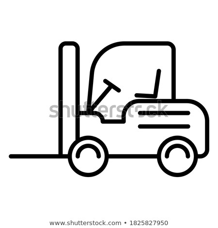 Building Equipment, Contractor and Forklift Vector Stock photo © robuart