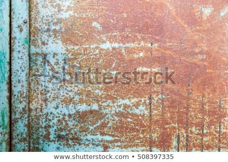 Rostigen Metall geknackt malen Grunge Stock foto © boggy