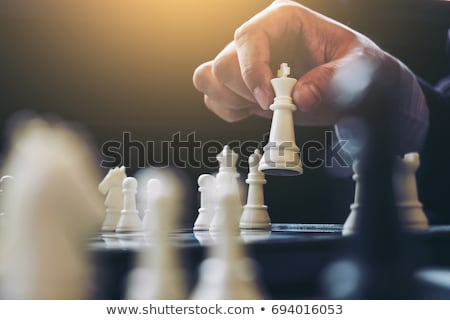Close up of hands confident businessman colleagues playing chess Stock photo © Freedomz