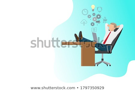 online business web poster man sitting on cloud stock photo © robuart