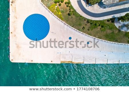 Részlet tenger hullámok part ünnep Horvátország Stock fotó © X-etra