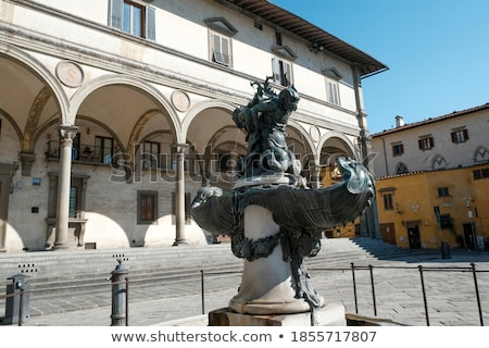 Fountain in Piazza Santissima Annunziata, Florence. Stock photo © borisb17