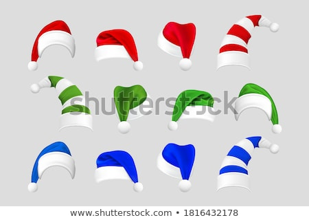 set of different festive caps in cartoon style stock photo © robuart