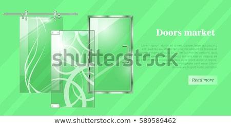 oficina · puertas · gris · azul · rojo · buzón - foto stock © robuart