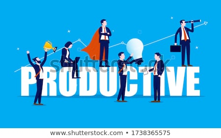Motivación trabajo equipo oficina vector Foto stock © robuart